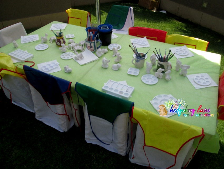 Ceramic table ready for a party