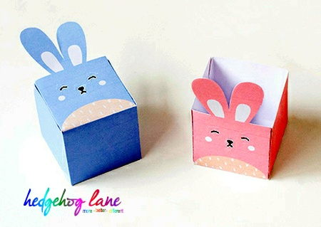 Easter craft  - two completed boxes