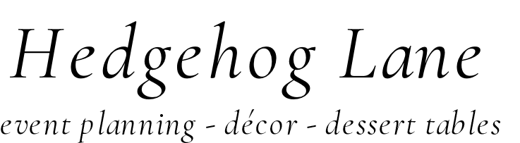 Hedgehog Lane:Themed Decor