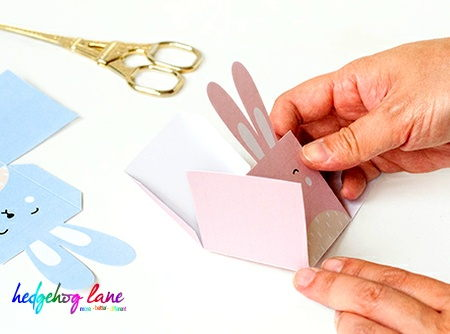 Easter craft -  fold template along dotted lines.